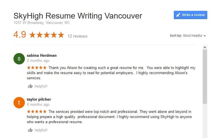 Professional resume writing victoria bc