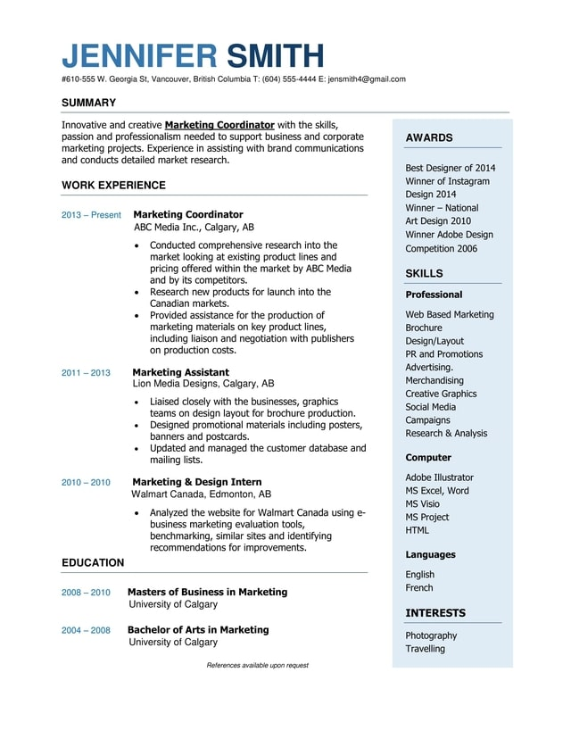 MID CAREER RESUME SAMPLES  Mid Career Resume